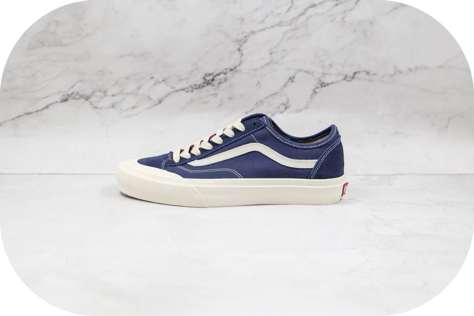 万斯Vans style36 decon sf公司级版本半月包头海军蓝硫化板鞋原厂硫化版本原盒原标