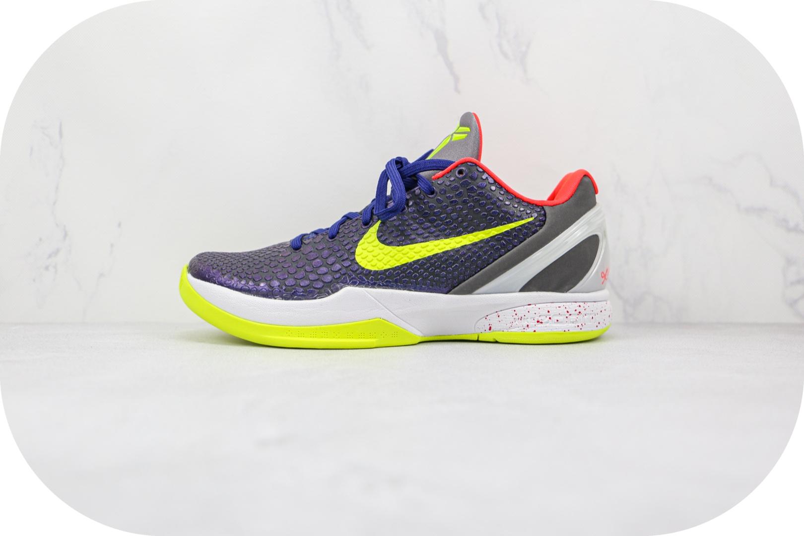 耐克Nike Kobe 6 Supreme灭世纯原版本科比6代小丑蓝绿色篮球鞋原鞋开模一比一打造 货号:446442-500