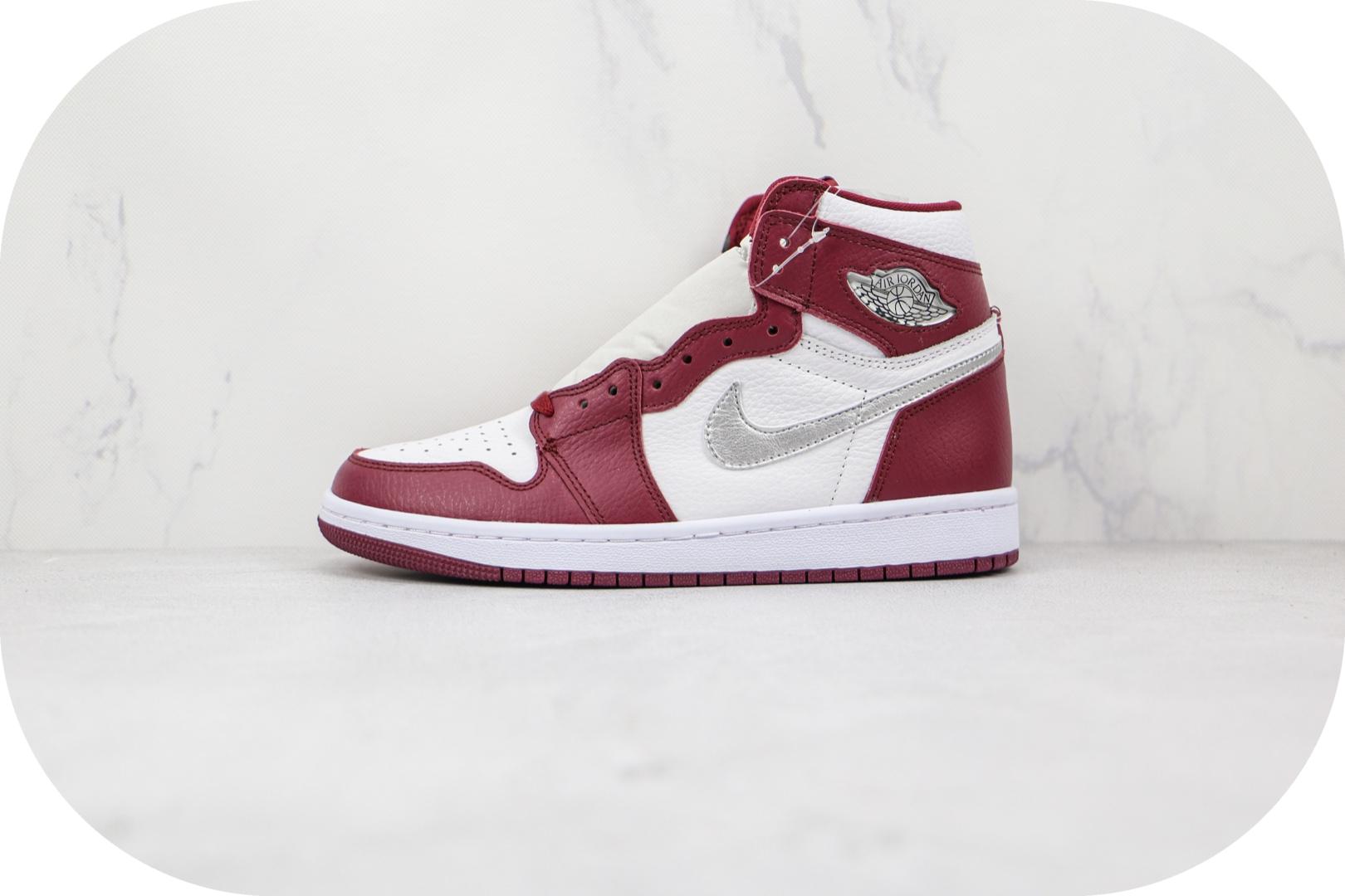 乔丹Air Jordan 1 High OG Bordeaux纯原版本高帮AJ1波尔多酒红色篮球鞋原档案数据开发 货号:555088-611