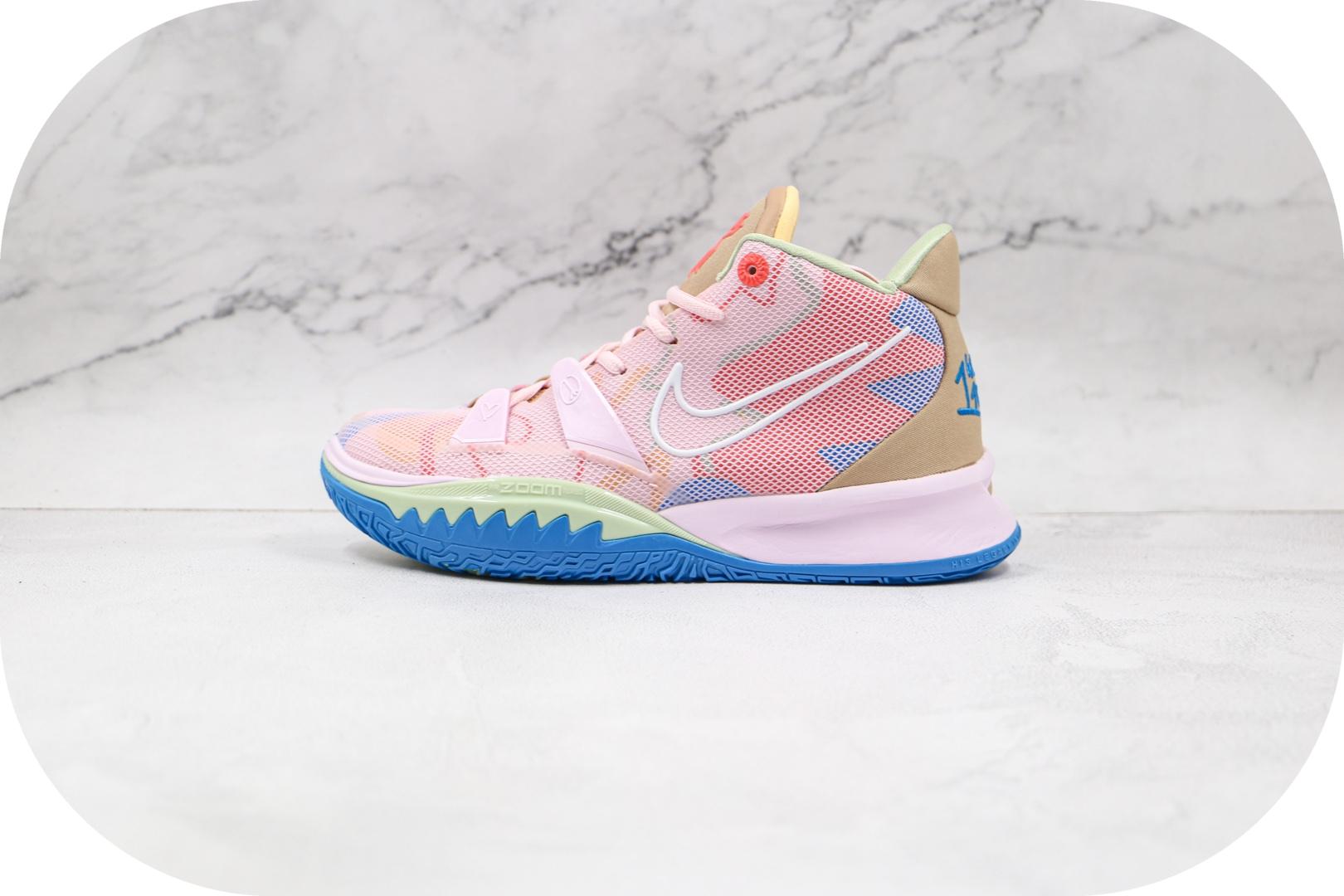 耐克Nike Kyrie 7 EP纯原版本欧文7代樱花粉色篮球鞋支持实战 货号:CT4080-600
