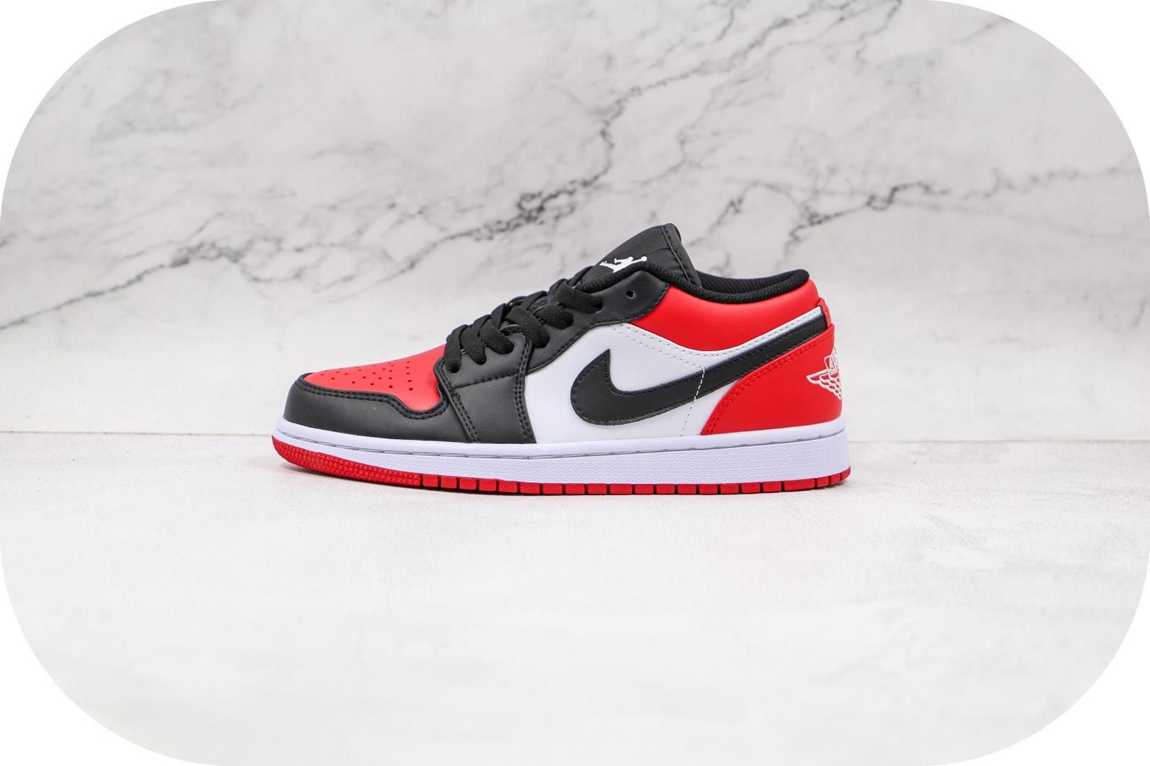 乔丹Air Jordan 1 Low纯原版本低帮AJ1红黑脚趾板鞋原楦头纸板打造 货号:553558-612
