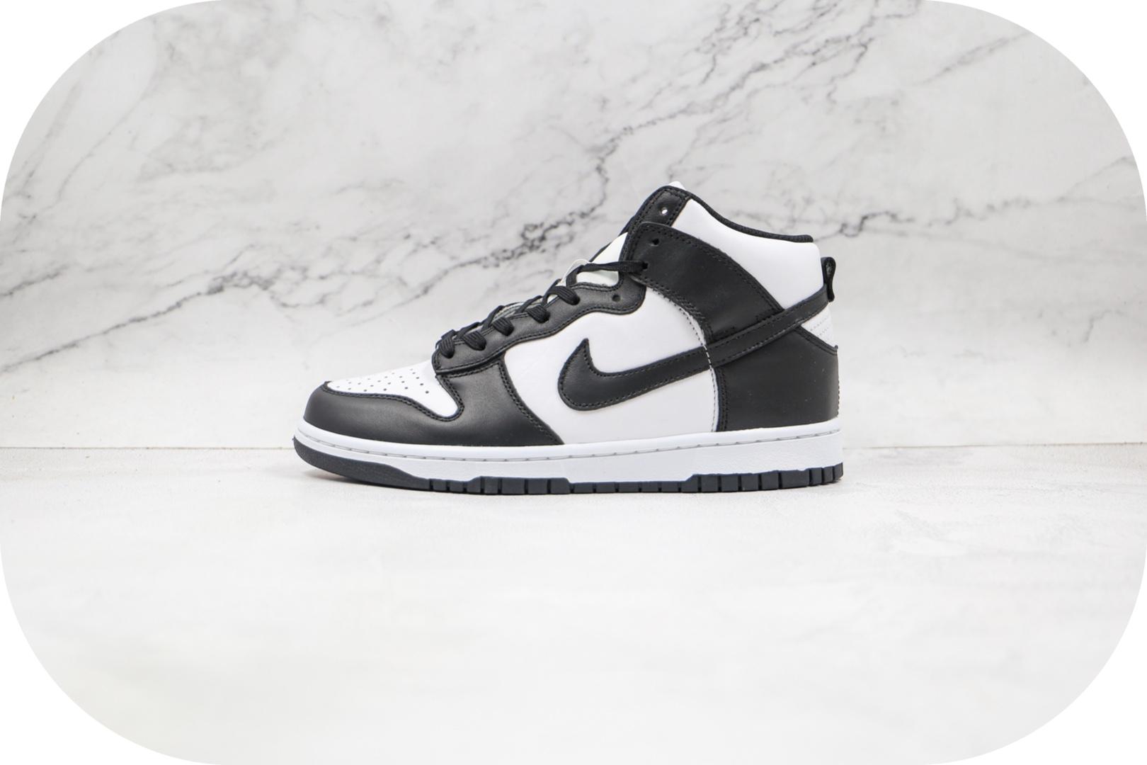 耐克Nike SB Dunk High纯原版本高帮SB DUNK黑白熊猫板鞋原档案数据开发 货号:DD1869-103