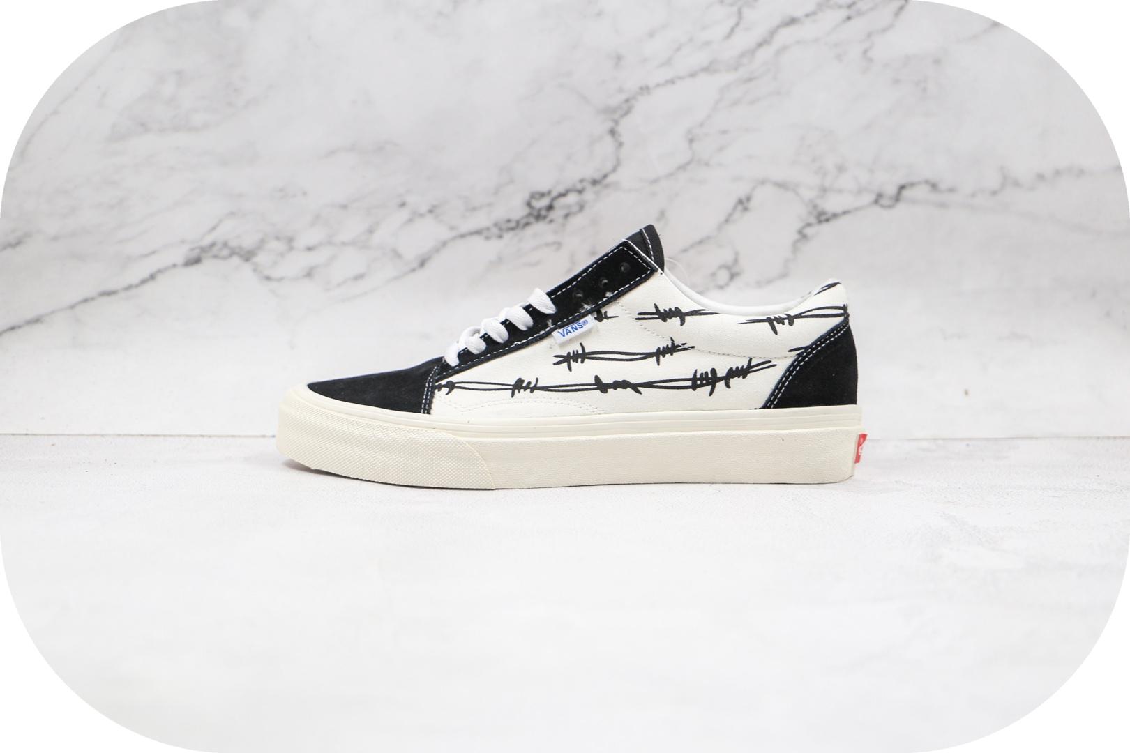 万斯Vans OG Old Skool NS LX公司级版本低帮条纹黑白色硫化帆布鞋原盒原标原厂硫化大底
