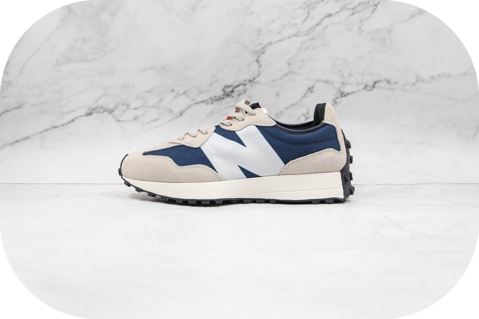 新百伦New Balance 327纯原版本蓝白色字母弹幕NB327复古慢跑鞋原楦头纸板打造 货号:WS327BA
