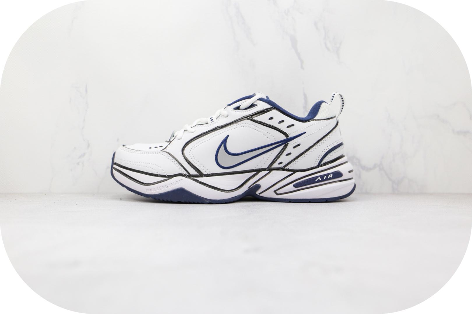 耐克Nike Air Monarch M2K纯原版本复古M2K白蓝色涂鸦老爹鞋原楦头纸板打造 货号:415445-102