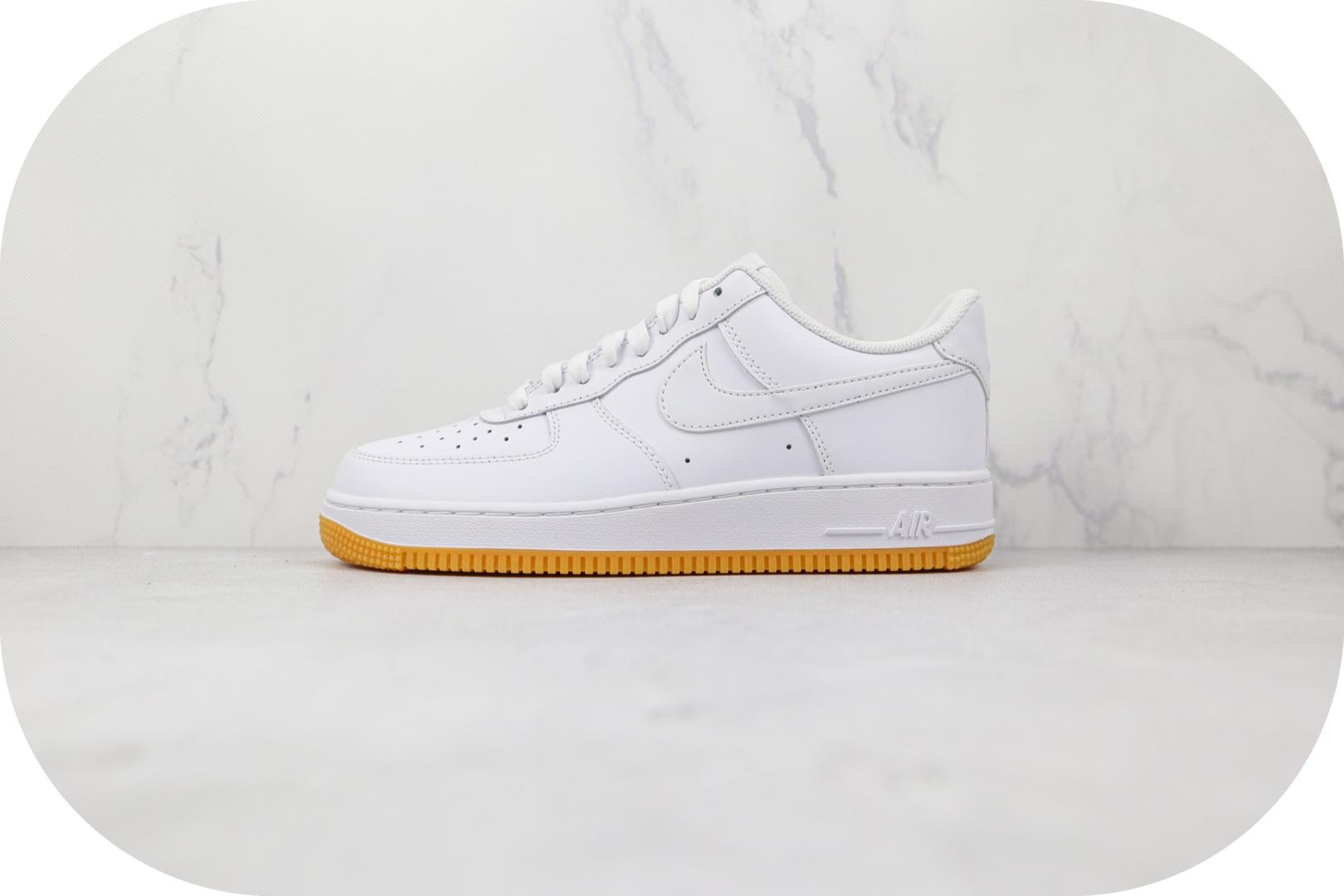 耐克Nike Air Force 1 Low 07纯原版本低帮空军一号白色生胶底板鞋内置气垫 货号:DJ2739-100