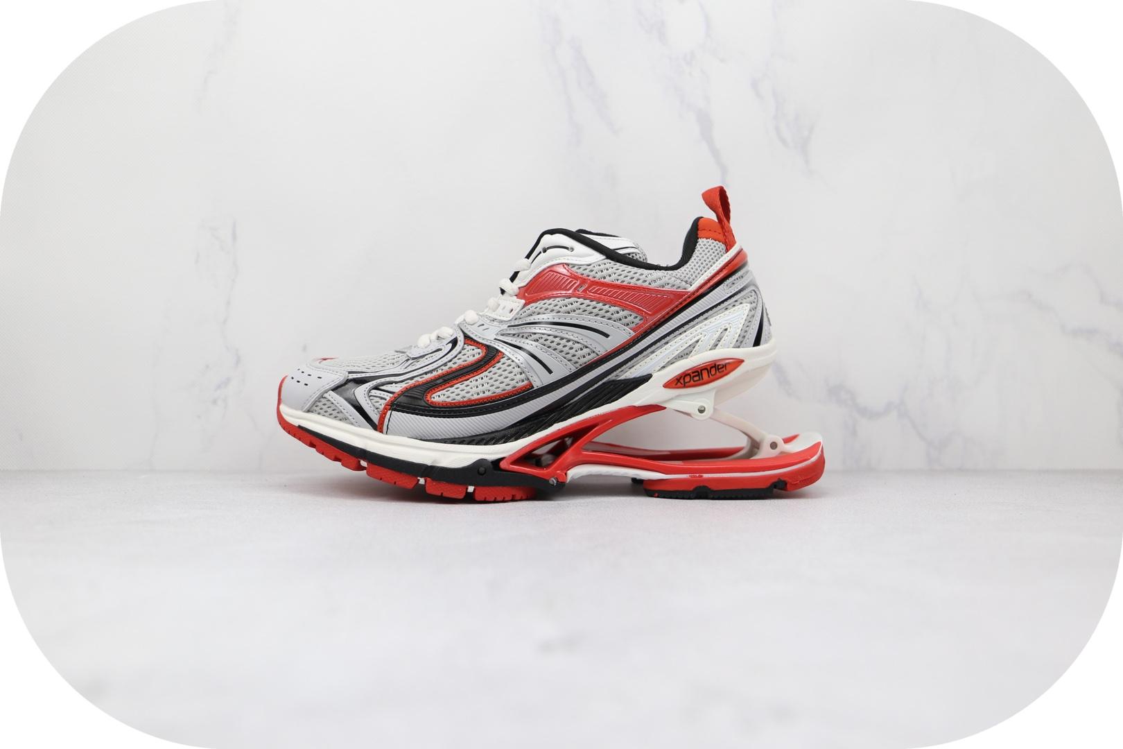 巴黎世家Balenciaga X-Pander纯原版本白红色弹簧鞋增高复古做旧老爹鞋原档案数据开发