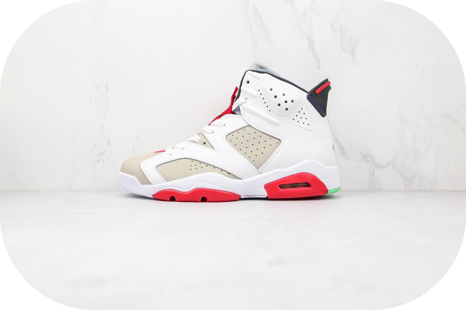 乔丹Air Jordan 6 Hare纯原版本兔八哥白红色AJ6篮球鞋原盒原标原鞋开模 货号:CT8529-062