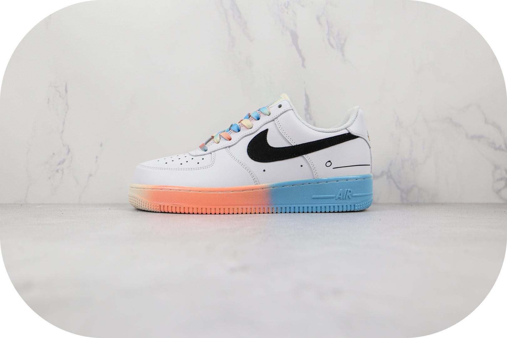 耐克Nike Air Force 1 Low 07纯原版本低帮空军一号白红蓝电玩涂鸦板鞋内置气垫 货号:DJ4679-101