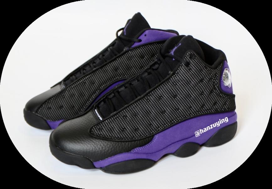 这反光效果一绝!黑紫AJ13最新实物曝光! 货号:DJ5982-015封面