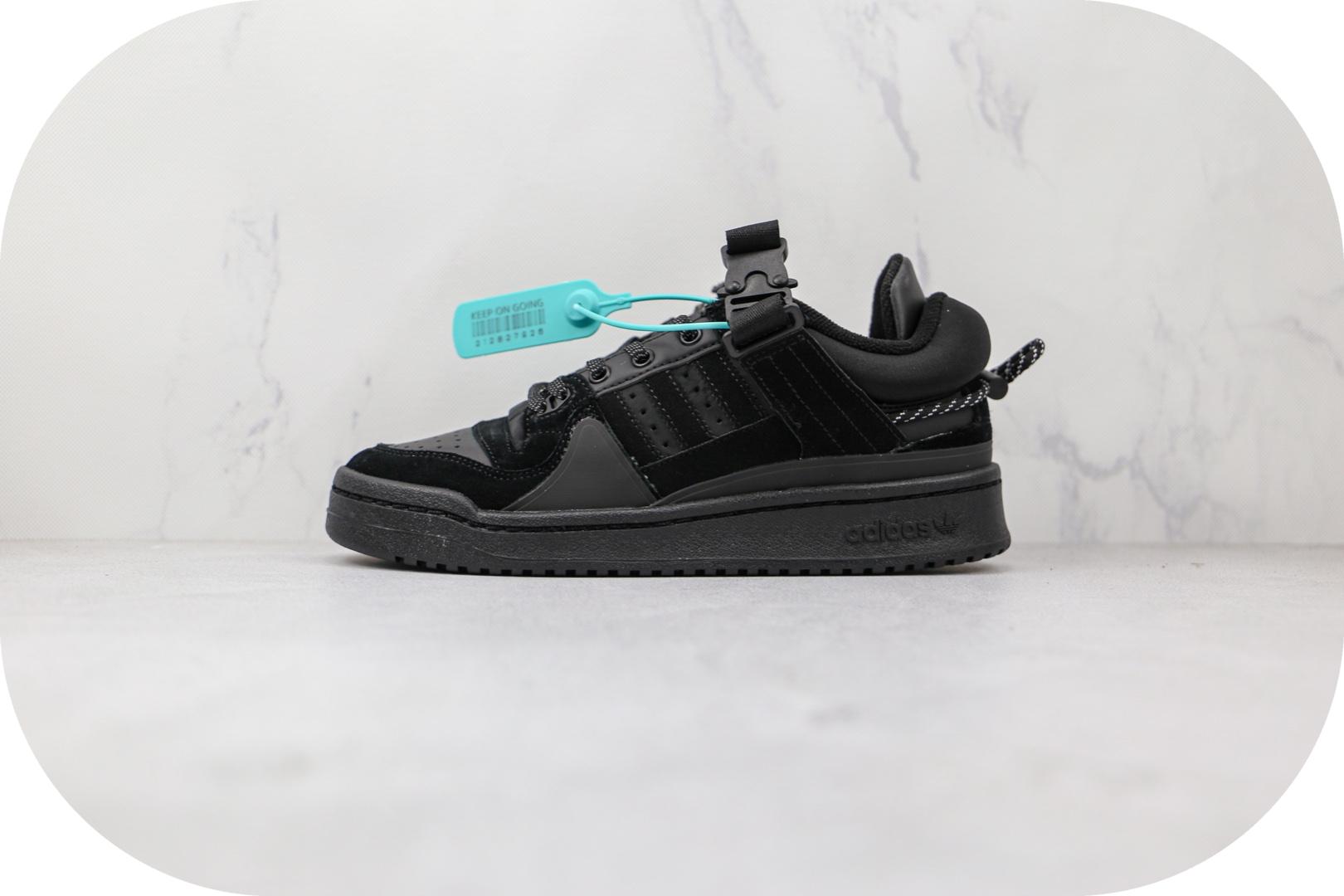 阿迪达斯adidas Forum Low x Bad Bunny联名款纯原版本黑色黑兔板鞋原档案数据开发 货号:GW0266