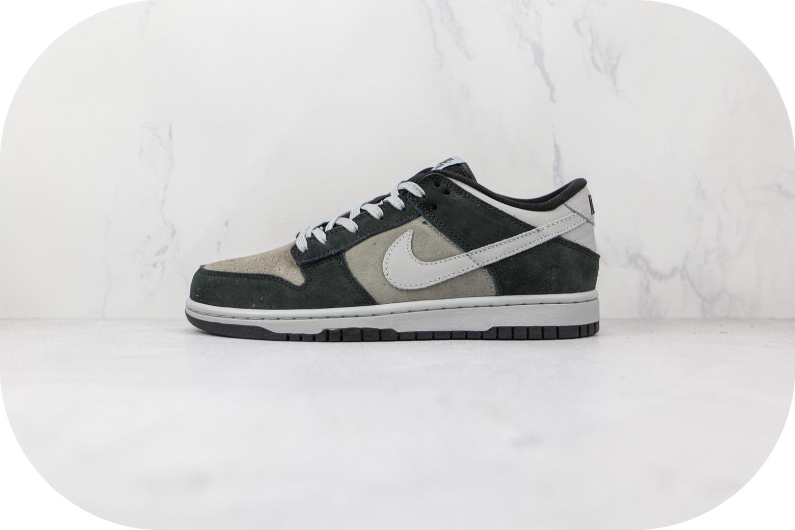 耐克Nike Dunk Low Retro PRM Zebra Anthracite纯原版本低帮SB DUNK麂皮碳黑灰色板鞋原档案数据开发 货号:DH7913-001