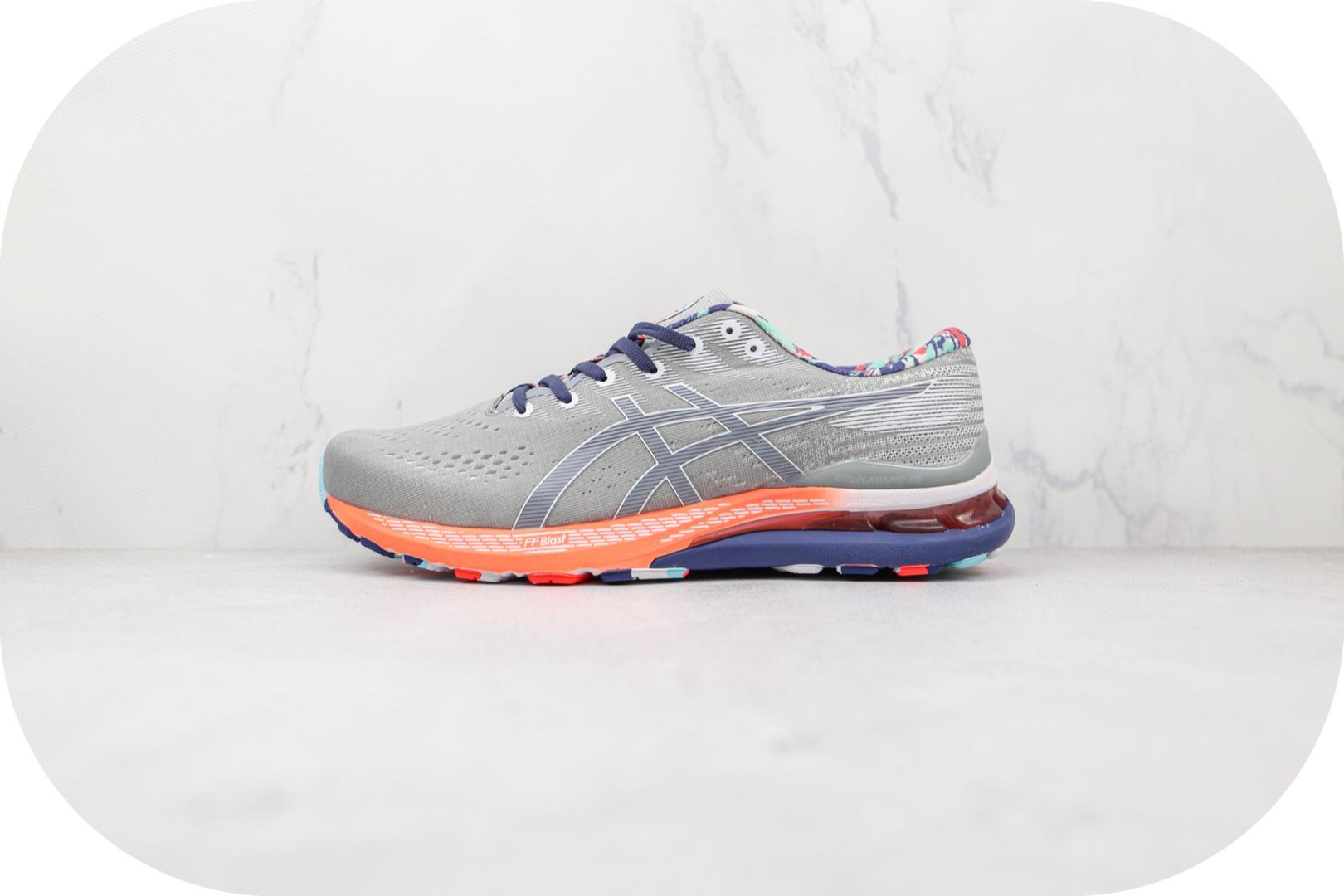 亚瑟士ASICS GEL-KAYANO 28纯原版本彩灰色缓震运动跑鞋原鞋开模一比一打造 货号:1011B310-960