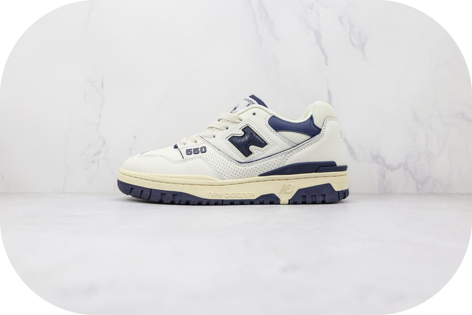 新百伦New Balance BB550纯原版本复古NB550白藏青色板鞋原档案数据开发 货号:BB550ALF