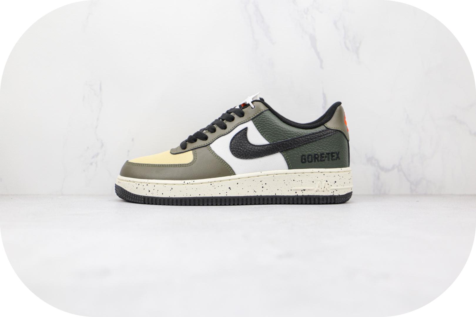 耐克Nike Air Force 1纯原版本低帮空军一号军绿拼接板鞋原楦头纸板打造 货号:DM6435-222