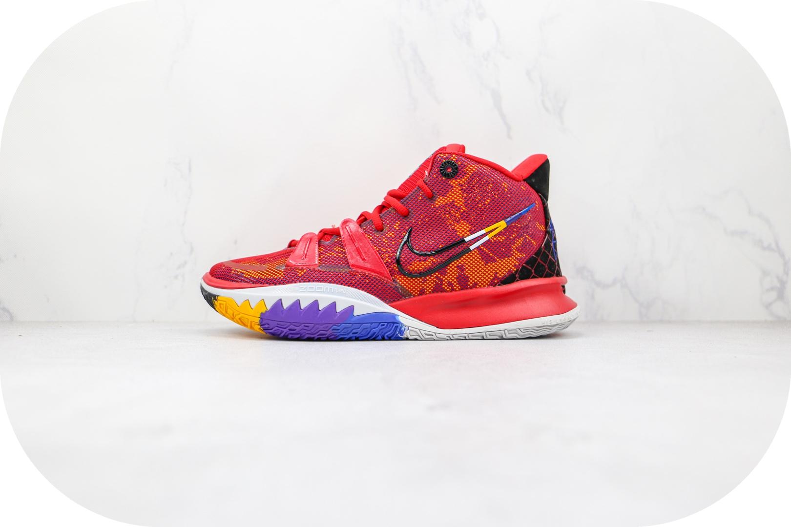 耐克Nike Kyrie 7 Ep纯原版本欧文7代红色英雄主题篮球鞋内置气垫支持实战 货号:DC0589-600