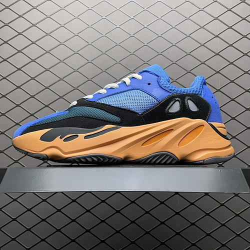 "YEEZY Boost 700 "" Bright Blue "" 蓝橙 侃爷椰子 3M反光 复古老爹鞋 GZ0541_莆田的og版本达到什么水平"
