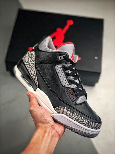 Air Jordan 3 Retro Black Cement  2018黑水泥  致敬经典_s2的鞋子怎么样
