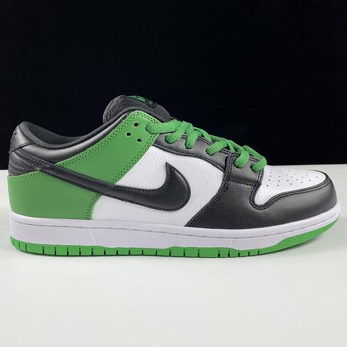 "SB Dunk Low "" Classic Green"" 黑绿脚趾 低帮运动休闲板鞋 BQ6817-302_莆田ljr货源"