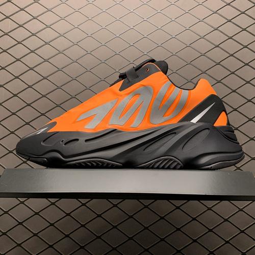 """纯原版本 Adidas 阿迪达斯 Yeezy 700 MNVN 3M反光 """" Orange """" 侃爷椰子700新配色 FV3258_s2纯原"""