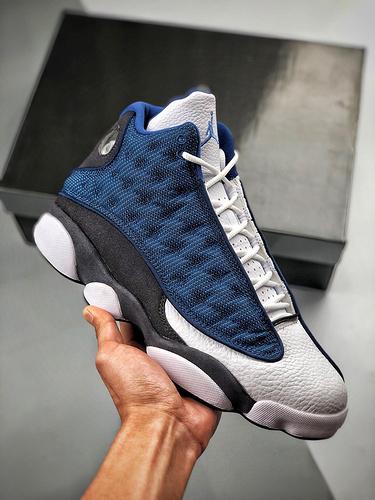 "Air Jordan 13 ""Flint"" 货号:414571-404    乔13海军蓝白蓝_ow 莆田鞋吧"