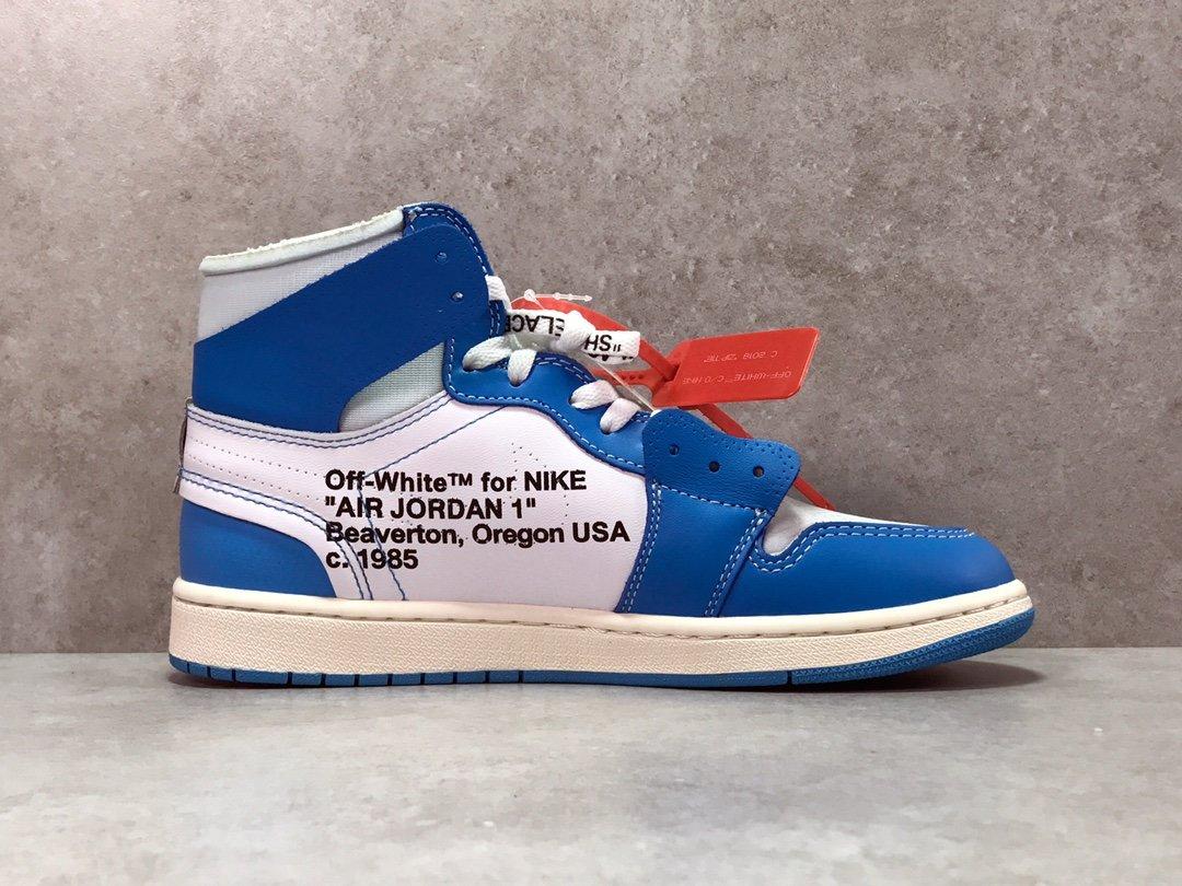 OG版乔1 OW联名北卡蓝  Air Jordan 1  Off White AJ1  UNC 货号AQ0818-148_yeezy350配色排名