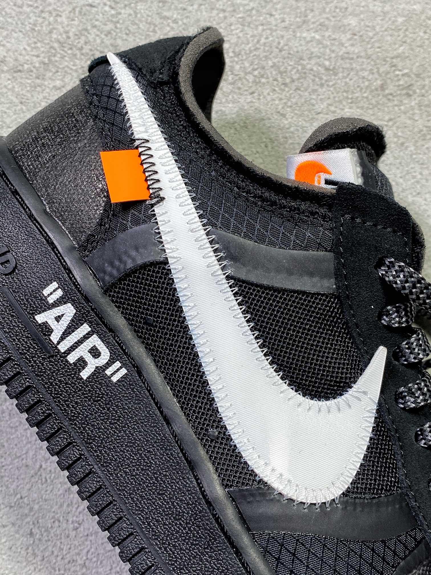 """货号:AO4606-001纯原现货供应‼️Off-White x Nike Air Force 1 Low """"空军OW全黑_特供版莆田aj怎么样"""