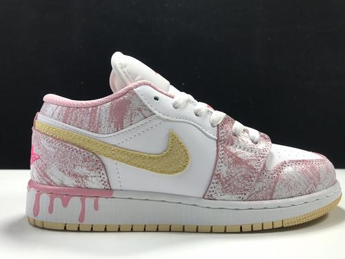 粉冰淇淋 Air Jordan 1 low OG,货号:CW7104-601_去莆田当地市场买鞋攻略