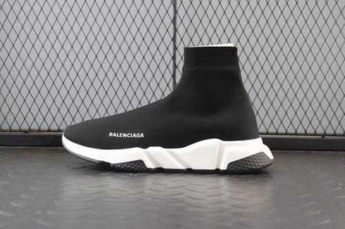 巴黎世家Balenciaga Speed stretch-knit Mid sneakers中帮束脚针织_椰子H12和G5哪个好