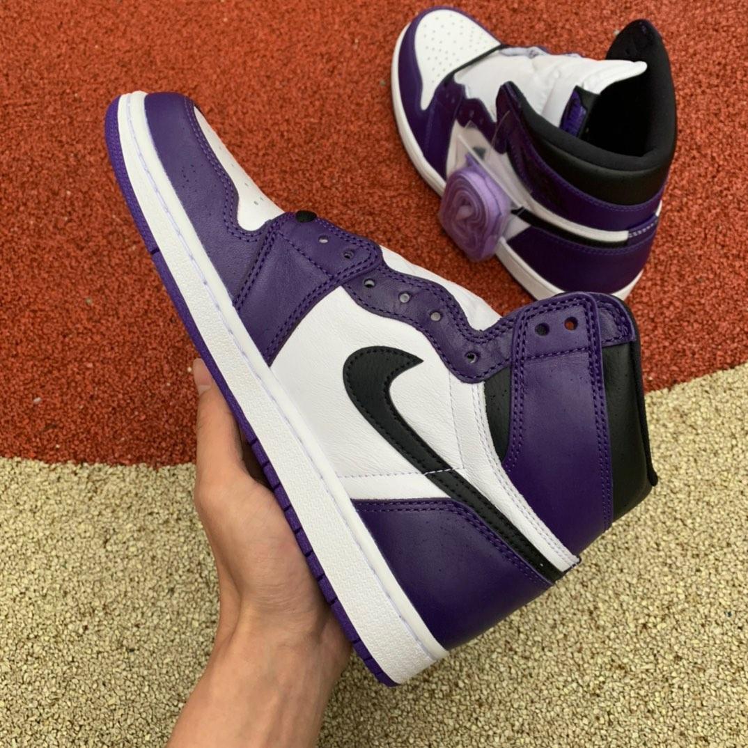 "LJR出品-紫脚趾-Air Jordan 1 ""Court Purple""乔1紫脚趾 男 AJ1篮球鞋 555088-500._莆田ljr真的好吗"