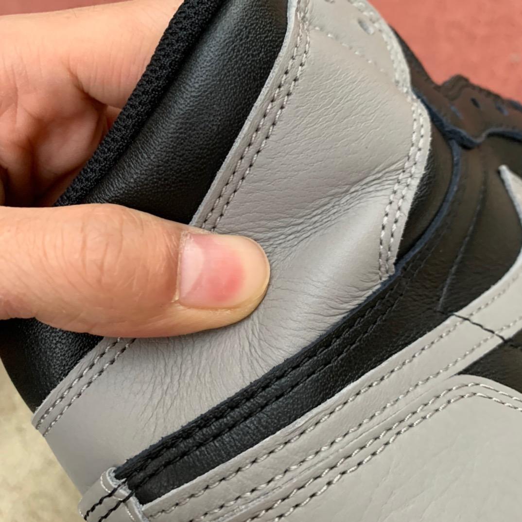 特供版-LJR出品-原材料 Air Jordan 1 Shadow AJ1 黑灰 影子 酷灰 555088-013_莞顶aj跟莆田aj区别