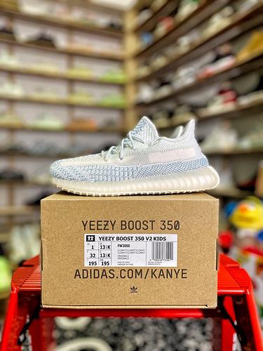 "Yeezy 350v2 ""童鞋 冰白货号:FW3050_aj1特供版和纯原版"