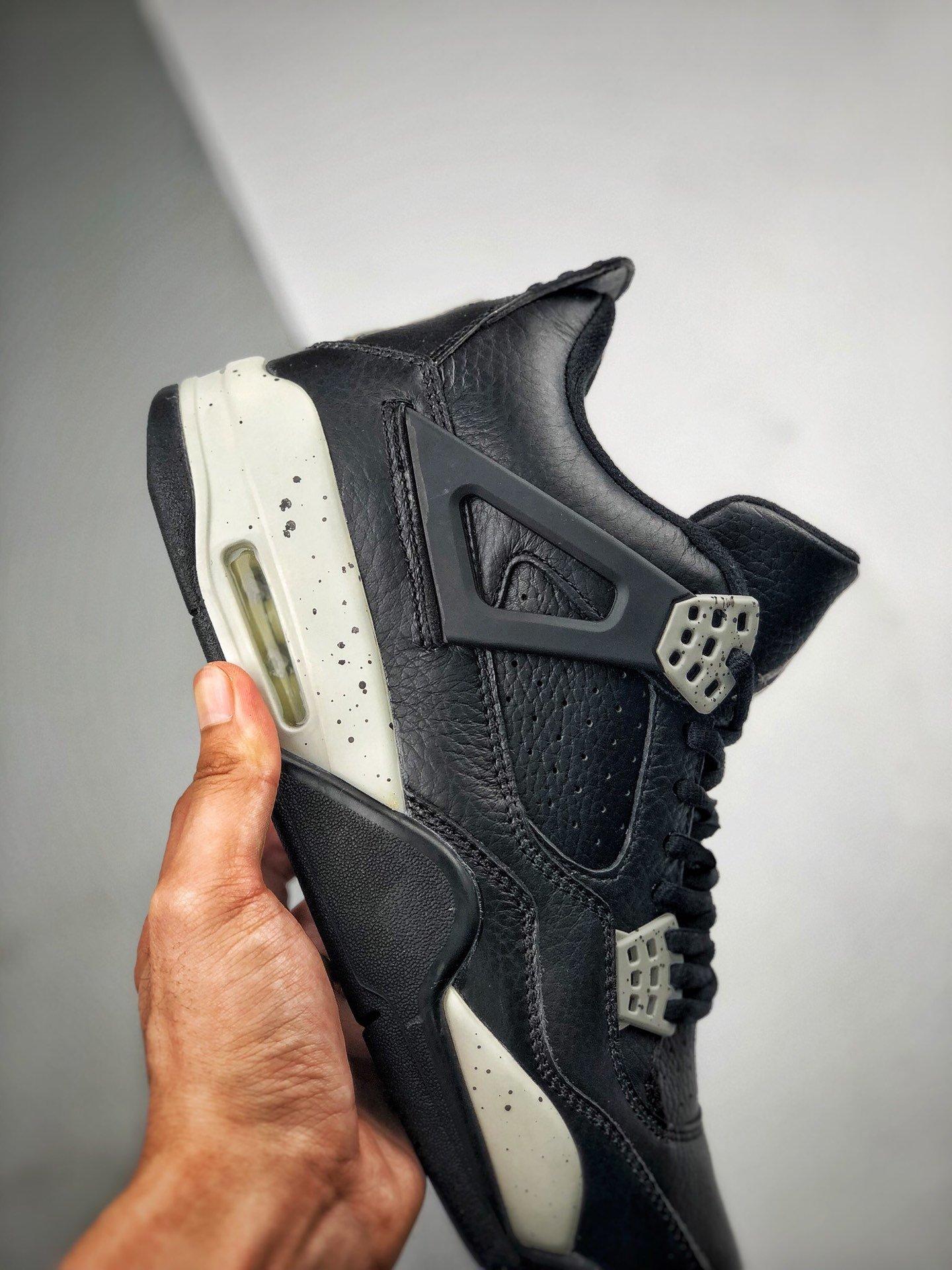 """Air Jordan 4 Retro """"Oreo""""   黑白奥利奥  货号AAQ3816-065_300元莆田鞋什么档次"""