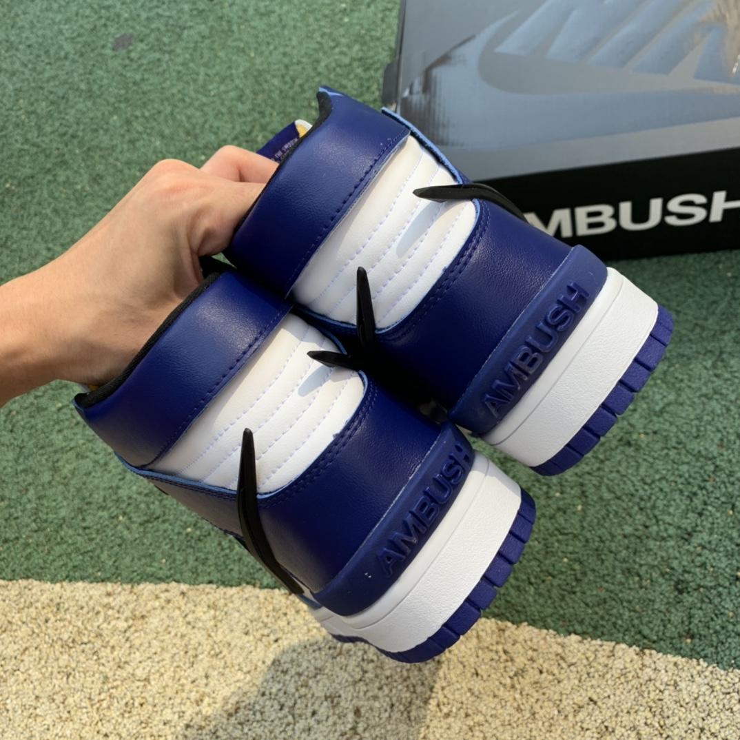 纯原版 Dunk High x AMBUSH 联名 皇家蓝 黑蓝 CU7544-400_莆田ljr一双大约多少钱