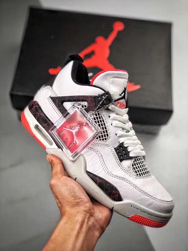 "Air Jordan 4 ""Hot Lava""   白红 - 热熔岩_500元莆田鞋什么级别"