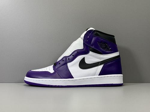 GOD版_乔1  白紫 Air Jordan retro 1 High OG,货号_555088-500_莆田鞋god版是什么意思