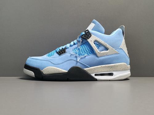 "X版:AJ4大学蓝 Off-White x Air Jordan 4 ""University Blue""货号:CT8527-400_莆田x10版本什么意思"