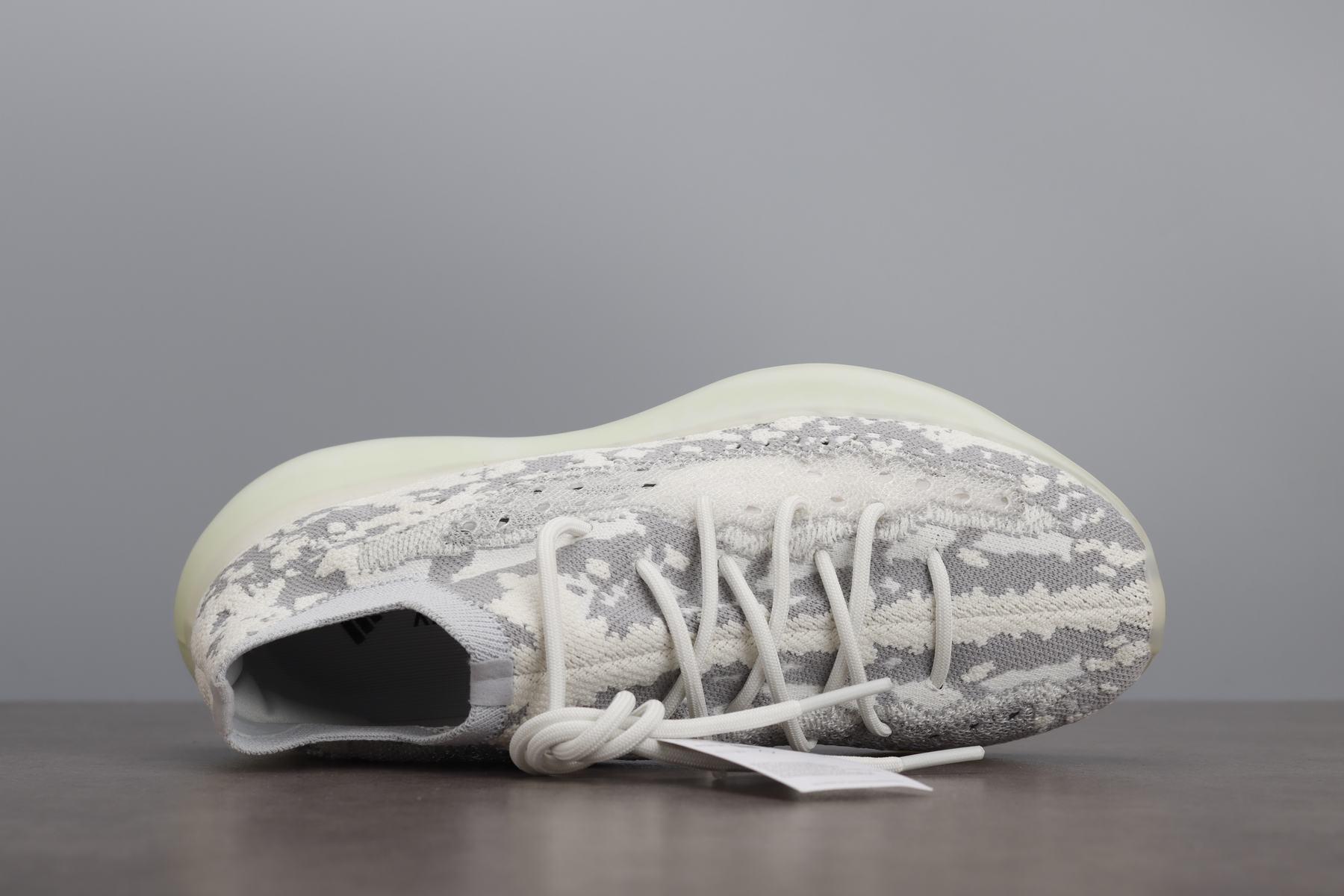 老汪 BASF YEEZY Boost 椰子380 外星人 灰白跑鞋 FV3260_河源aj裸鞋