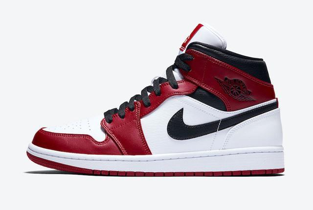 "Air Jordan 1 Mid ""Chicago"" 小芝加哥 货号:554724-173_aj东莞厂货货源在哪"