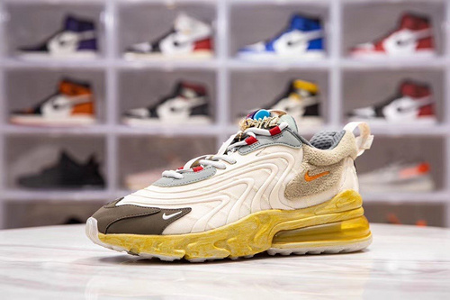 H12版_TS270 Travis Scott x Air Max 270 React ,货号_CT2864-200,尺码_36-47.5_椰子500的翻毛皮h12