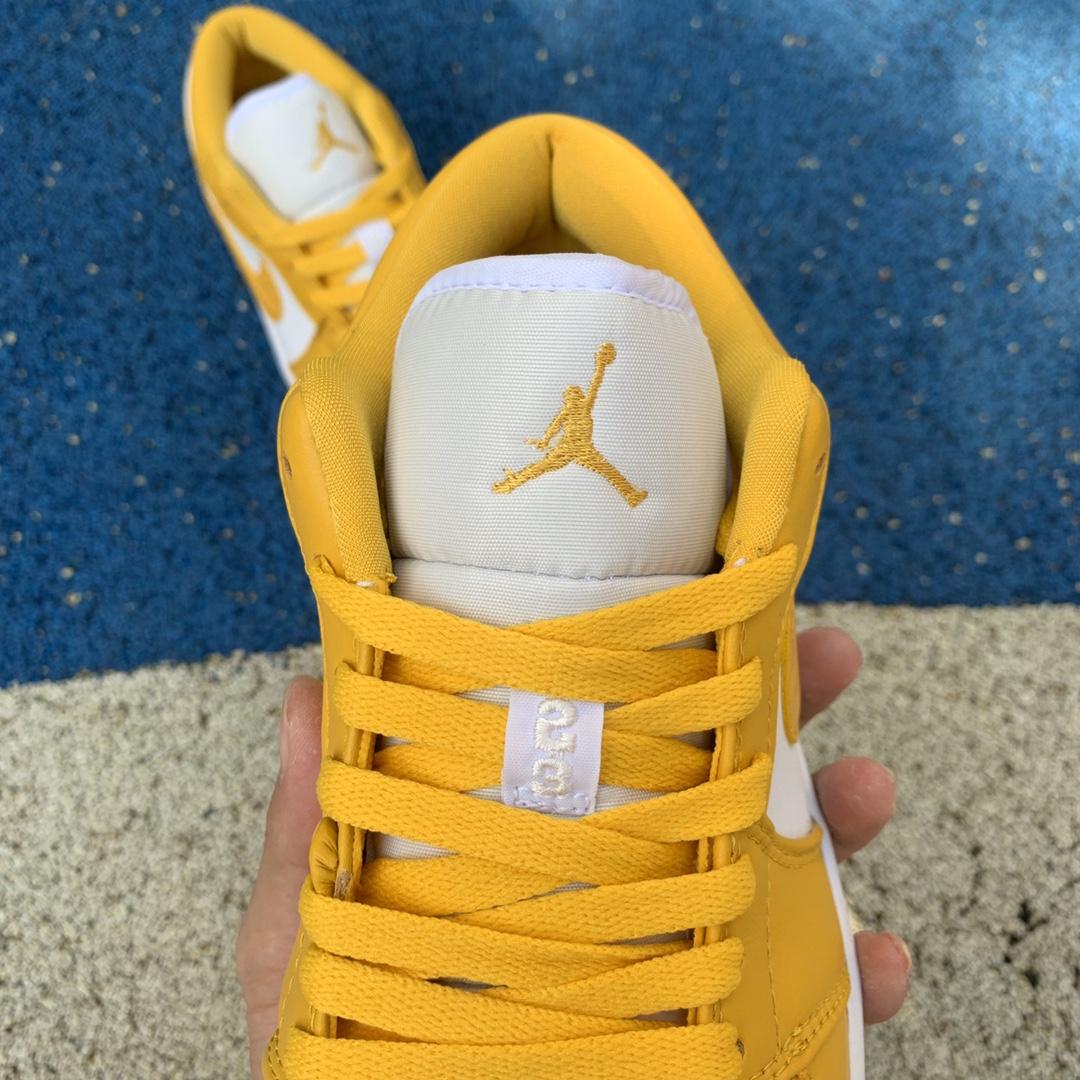 Air Jordan 1 Low AJ1 芥末黄 白黄休闲低帮篮球鞋553558-171_莆田ljr是什么意思