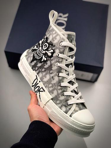 Stussy x Dior B23 Oblique High Top 迪奥斯图西联名_莆田x版鞋子