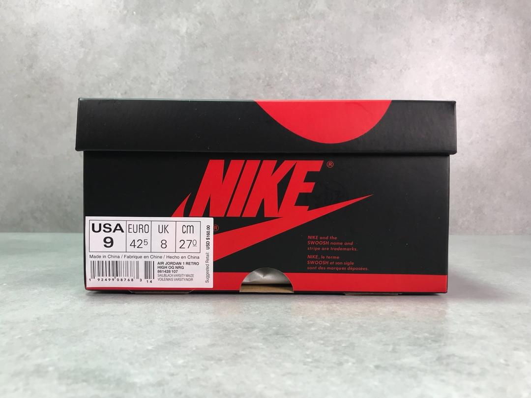 "PK版_乔一 黄禁转卖  Air Jordan 1 NRG OG High ""No L&x27;s"" 禁止转卖 货号_861428-107_pk工厂放店"