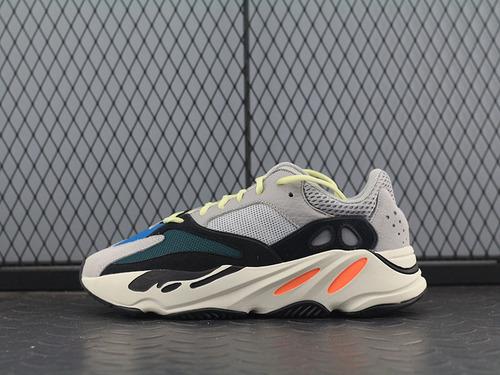 "PK 版Kanye West x Adidas Yeezy Runner Boost 700系列复古爆米花中底慢跑鞋""白灰黑水绿""B75571_东南亚pk印度工厂"