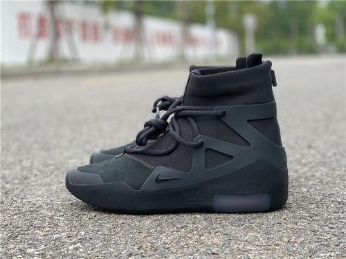 "Fear of God x Nike Air Fear of God 1""All Black"" 敬畏上帝联名 高街气垫前卫高筒篮球鞋 网面黑魂配色AR4237-005_东莞最大的饮料批发商"