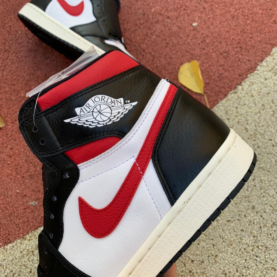 aj1红钩-LJR出品-Air Jordan 1 AJ1 黑脚趾 红勾 黑红555088-061_莆田lgr
