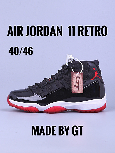 "GT纯原版本 Air Jordan 11 ""Bred""/黑红_GT版本和毒版"