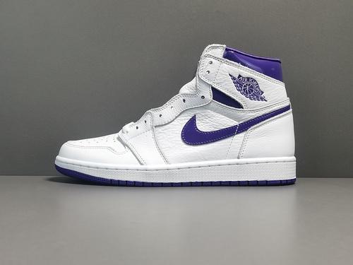 "OG版:AJ1   白紫  Air Jordan 1  Retro High OG ""Court Purple""货号:CD046-151_og椰子工厂微信"