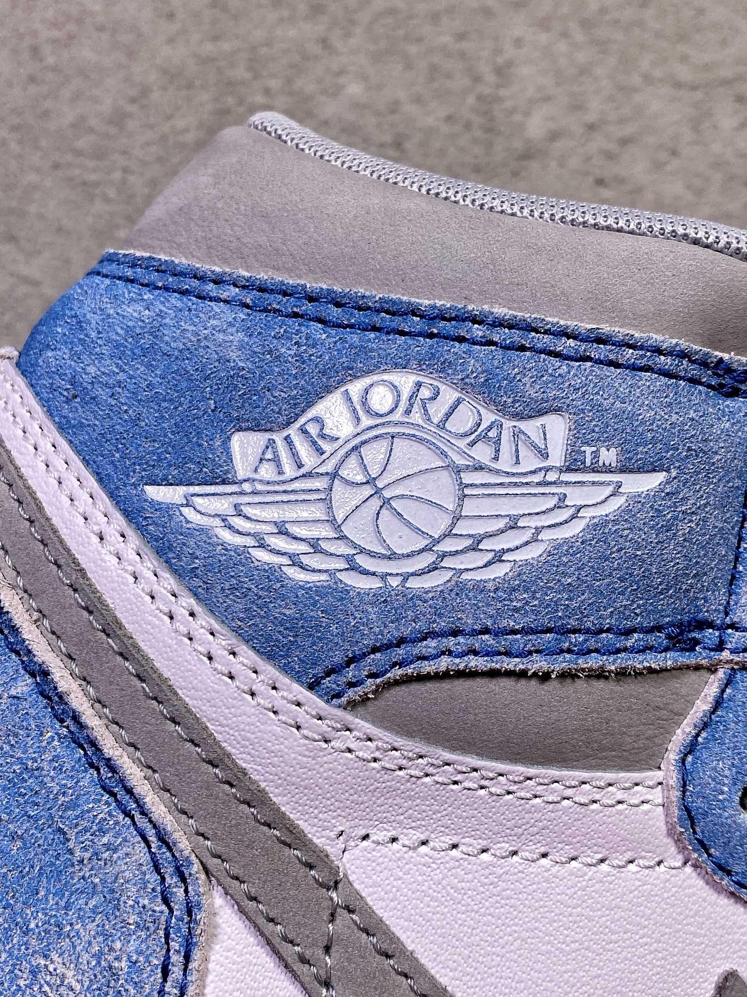 """货号:555088-402 水洗蓝 纯原Air Jordan1 High OG """"Hyper Royal""""水洗蓝_外贸特供版aj"""