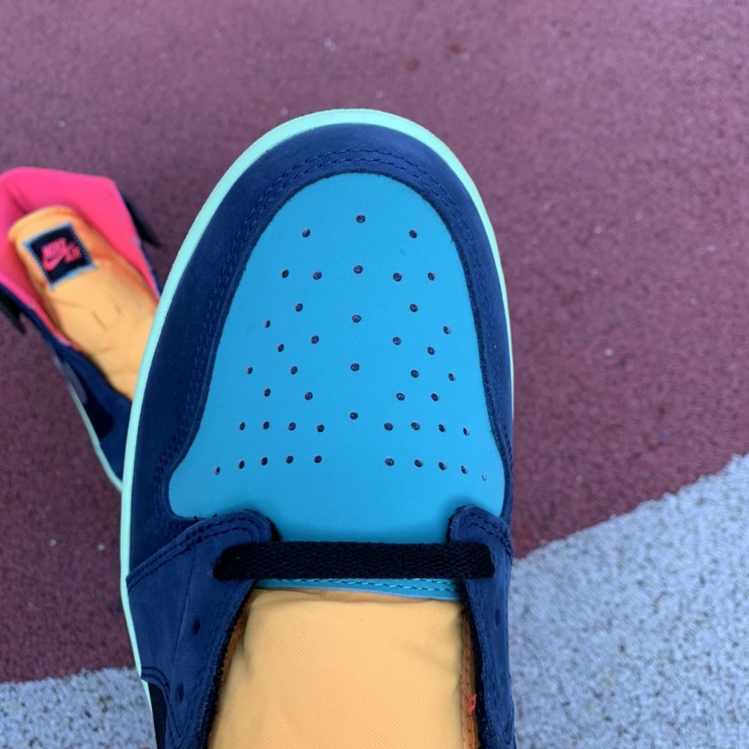 LJR出品-aj1生物黑客-AirJordan1 AJ1 Bio Hack 彩色拼接 篮球鞋 555088-201_莆田系ljr